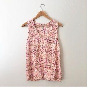 Joie Pink Patterned Silk Tank